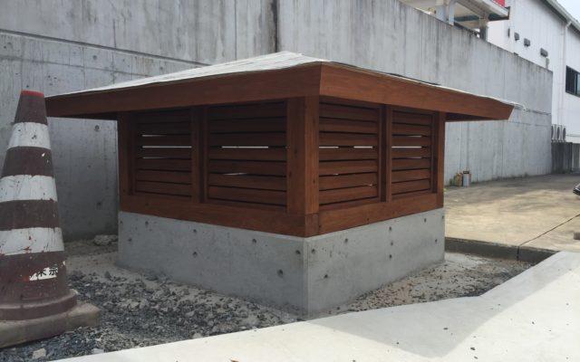 ポンプ小屋設置